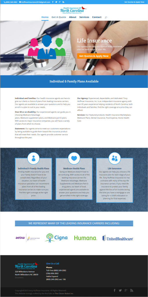 Tony Huffman Insurance Home Page